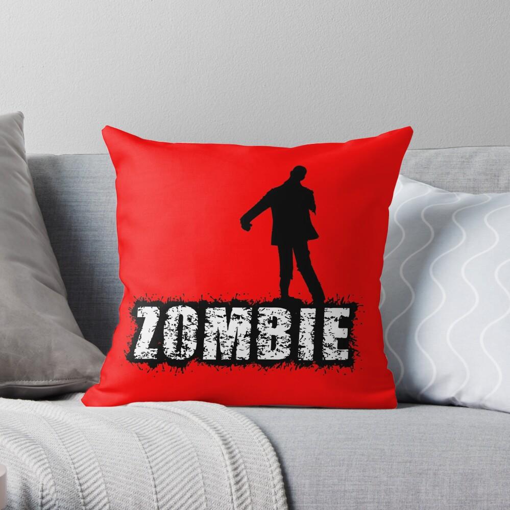 Zombie, Horror, Halloween Throw Pillow