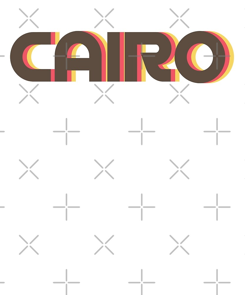 Retro Cairo T-Shirt by designkitsch