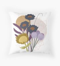 Autumnal Botanical Print Floor Pillow