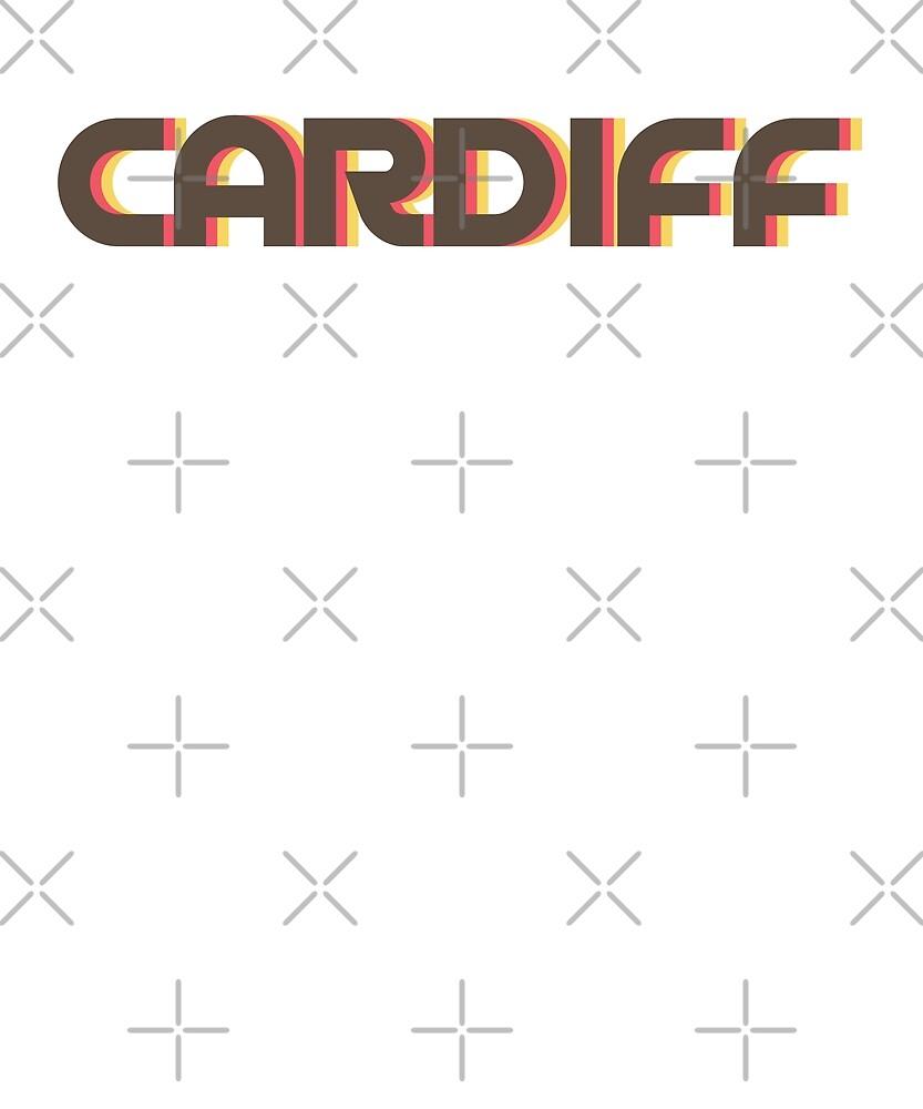 Retro Cardiff T-Shirt by designkitsch