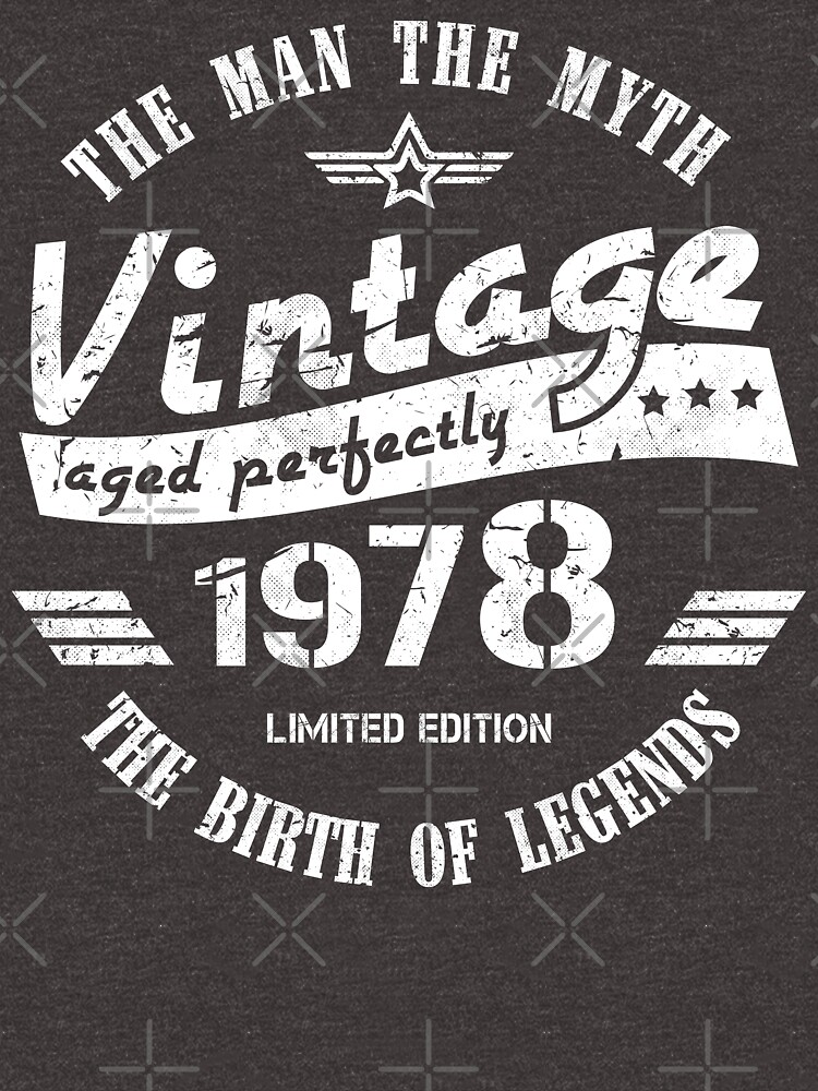 Vintage 1978 - 41st Birthday Gift For Men by yetbubble