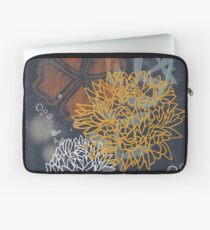 Modern abstract indigo floral Laptop Sleeve