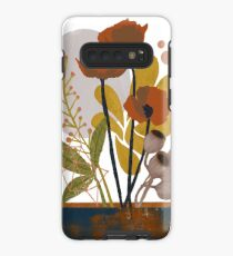 Poppy ikebana botanical print Case/Skin for Samsung Galaxy