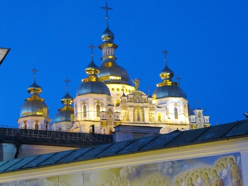 St. Michael's Golden Domed Cathedral, Kiev Ukraine by calvinincalif