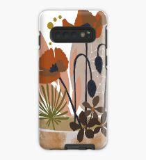 Poppy ikebana botanical print #2 Case/Skin for Samsung Galaxy