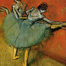 Edgar Degas French Impressionism Oil Painting Ballerinas Rehearsing Dancing by jnniepce