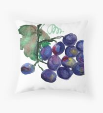 Grapes Throw Pillow