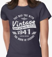 Vintage 1941 - 78th Birthday Gift For Men Women's Fitted T-Shirt