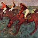 Edgar Degas French Impressionism Oil Painting Men Riding Horses by jnniepce