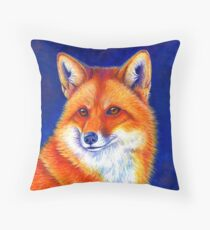 Colorful Red Fox Portrait Floor Pillow