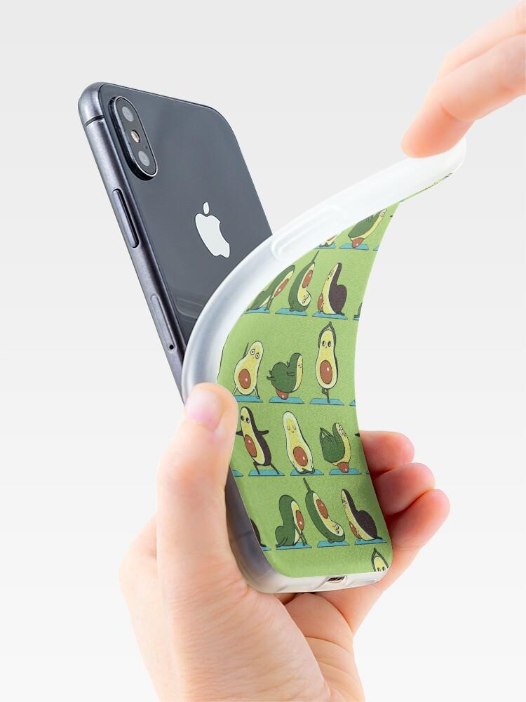 Alternate view of Avocado Yoga iPhone Case & Cover