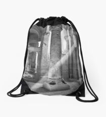 A Church hewn from solid rock Drawstring Bag