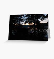 crack of dawn ove the lake Greeting Card