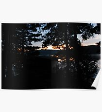 crack of dawn ove the lake Poster