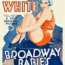 Vintage Hollywood Nostalgia Broadway Babies Film Movie Advertisement Poster by jnniepce
