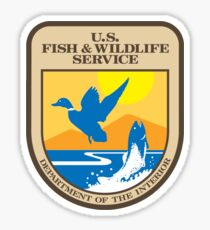 US Fish and Wildlife Service - Department of Interior Crest Sticker