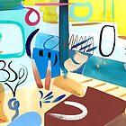 Abstract Interior #56 by Lisa V Robinson