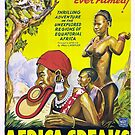 Vintage Hollywood Nostalgia Africa Speaks Film Movie Advertisement Poster by jnniepce