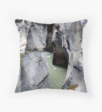 Maligne River Canyon(2) Throw Pillow