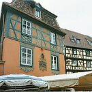 Colmar, Alsace, Tromp L'oeil windows by BronReid