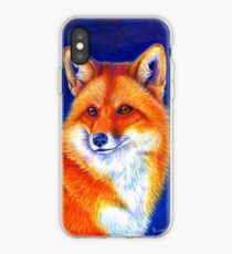 Colorful Red Fox Portrait iPhone Case
