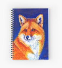 Colorful Red Fox Portrait Spiral Notebook