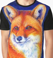Colorful Red Fox Portrait Graphic T-Shirt