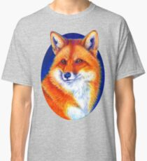 Colorful Red Fox Portrait Classic T-Shirt