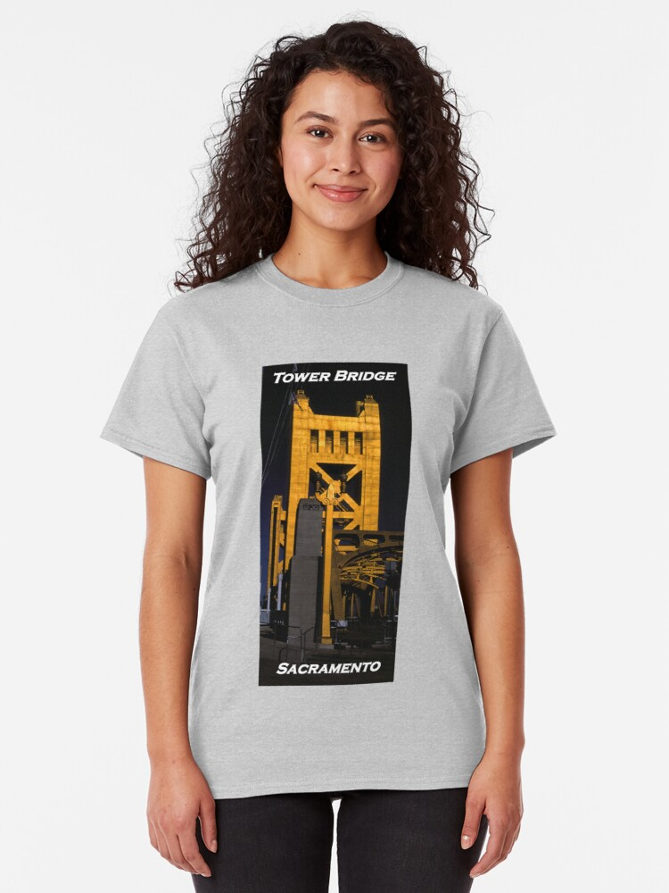 Alternate view of  Tower Bridge, Sacramento Classic T-Shirt