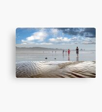 A Break in the Weather - Triptych Canvas Print