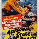 Vintage Hollywood Nostalgia Arizona Stage Coach Film Movie Advertisement Poster by jnniepce