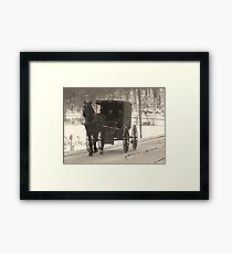 Amish near Breman Ohio in Fairfield County Framed Print