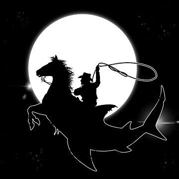 Cowboy Shark Rodeo Constellation - Silhouette - Fantasy - Astronomy - Cosmos - Space   by carlosafmarques