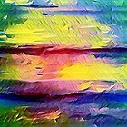 ABSTRACT SUNSET by WhiteDove Studio kj gordon