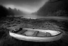 Loch Ard dinghy, different angle, mono by David Mould