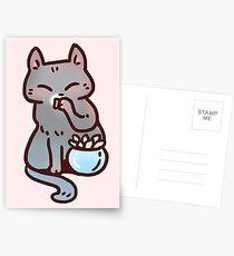 Chat plante grasse adorable Cartes postales