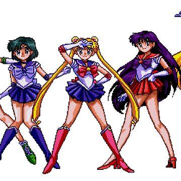 Sailor Scouts 16Bit by ctala784