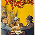 Vintage Hollywood Nostalgia Three Friends Film Movie Advertisement Poster by jnniepce