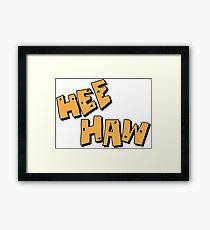 Lámina enmarcada Hee Haw