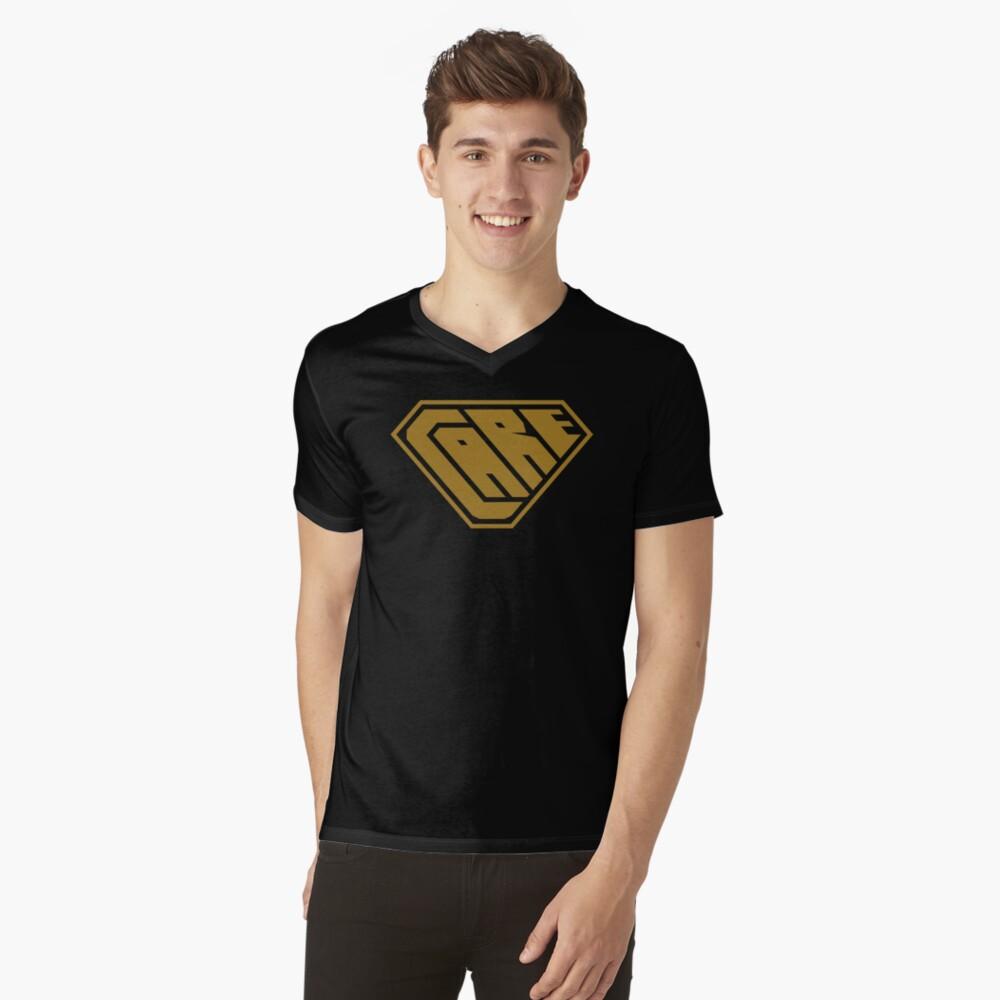 Care SuperEmpowered (Gold) V-Neck T-Shirt