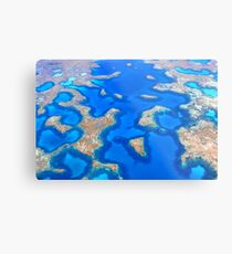 Aerial Abrolhos Metal Print