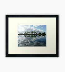Reflections in the Macleay River, Kempsey, N.S.W. Framed Print