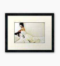 White Sunday Framed Print