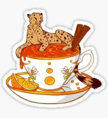 Orange and Cinnamon Tea Sticker