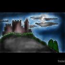 Night castle by Tricia Johansson Furtado