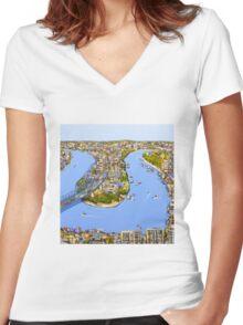 Riverside Women's Fitted V-Neck T-Shirt