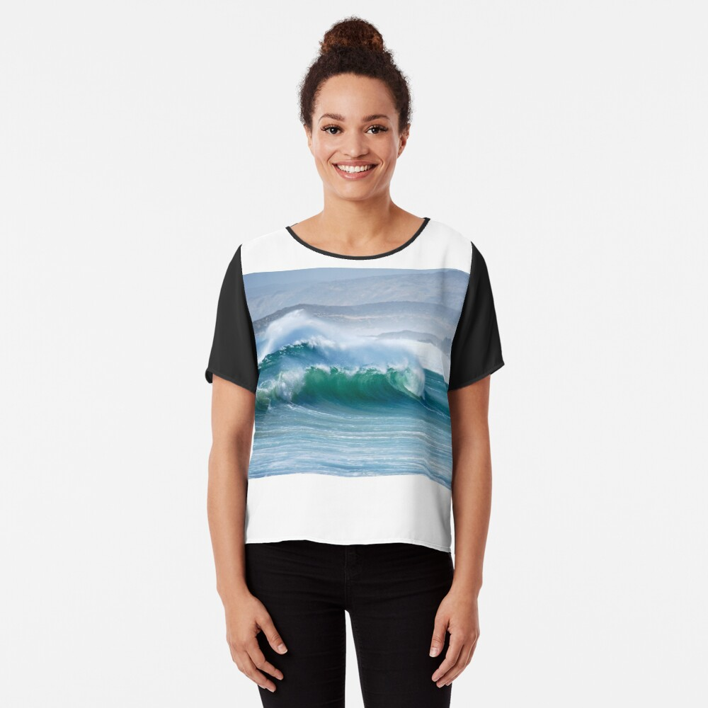 Surfs up Women's Chiffon Top Front