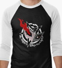 Persona 5 Mask (white) Men's Baseball ¾ T-Shirt
