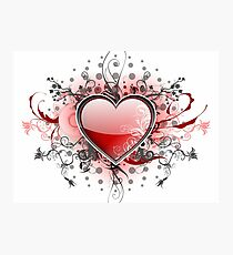 Abstract Digital Heart Photographic Print