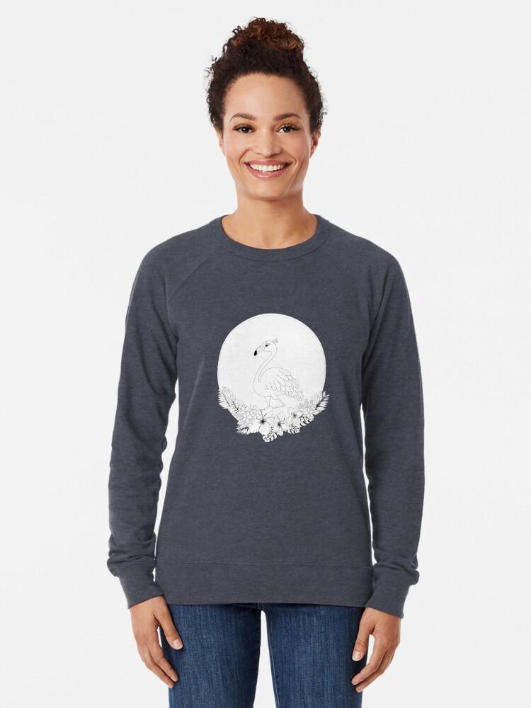 Alternate view of Just add Colour - Tropical Flamingo Lightweight Sweatshirt